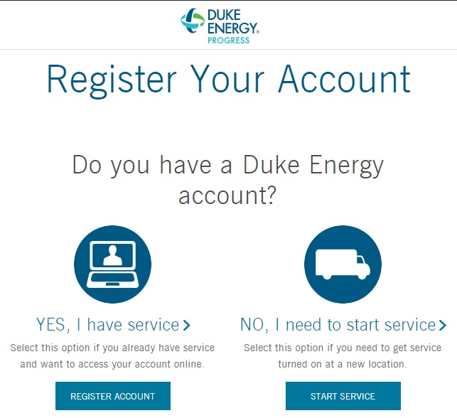 Register a New Duke Energy Account
